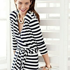 Banana Republic Striped Wrap Dress NWT